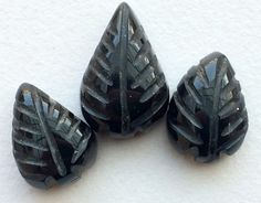 Black Tourmaline 3 Pc Set Drops Black Tourmaline by gemsforjewels