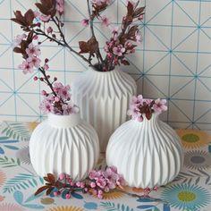 3 vases origami Bloomingville - deco-graphic.com