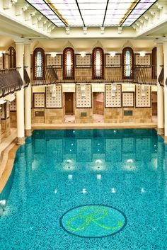The spa has been restored to its full splendor with a colonnade-supported gallery. #Jetsetter