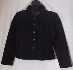 Herman Geist Woman's Black Wool Button Up Jacket Size PS #HermanGeist #Jacket