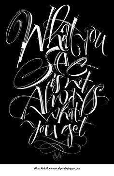 Alan Ariail calligraphy