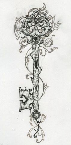 key tattoo by Kalaland