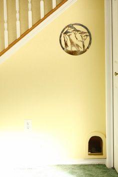 Cat door leading to litter box - love it!