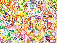 Rainbow Scrawl | Kirkby Design x Jon Burgerman | Kirkby Design | Durable High Performance Fabrics
