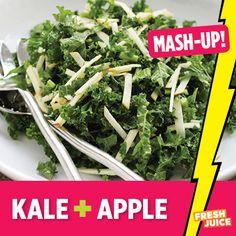 Kale + Apple #Kale #Salad #Foodmashup