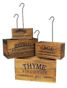 """Rustic Herb crates - How to: This is now on my official list of """"to do's"""". Love Love Love these"""