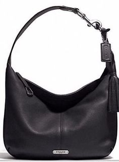 COACH Avery Hobo Black/Silver F23960 13 w, 10 h, 2 1/2 d.  Got this at our new Coach Factory Outlet.
