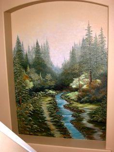 TK inspired Stairwell Mural. Painted by: Jaynne Sanderson