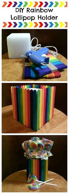 A great craft idea and DIY centerpiece to complete your rainbow or My Little Pony party theme. Trolls Birthday Party, Troll Party, Unicorn Birthday Parties, Birthday Party Themes, 5th Birthday, Birthday Ideas, Diy Rainbow Birthday Party, Carnival Birthday, Cake Birthday
