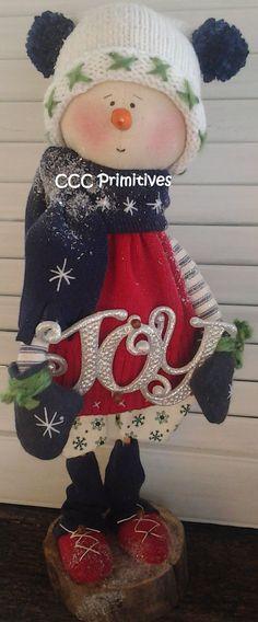 Handmade David Primitive Snowman by CCCPrimitives on Etsy, $32.00
