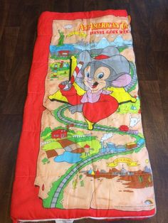 Vintage, 1990 American Tail, Fievel Goes West Sleeping Bag