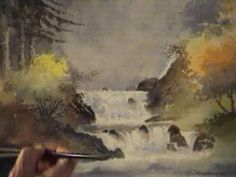 David Bellamy paints a waterfall in watercolour Part 2