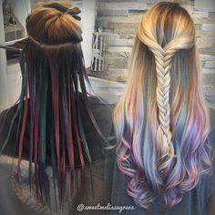 "1,789 Likes, 56 Comments - Florida Blonde & Balayage (@sweetmelissagrace) on Instagram: ""Pastel underlights. #btconeshot_hairpaint16"""