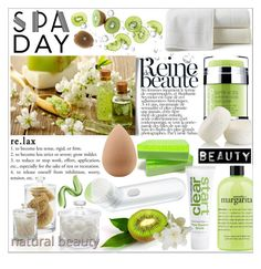 """""""Spa Day: Green"""" by tanjakr ❤ liked on Polyvore featuring beauty, Crate and Barrel, Peacock Alley, philosophy, Rodial, Dermalogica, Trish McEvoy, beautyblender, Clinique and GREEN"""