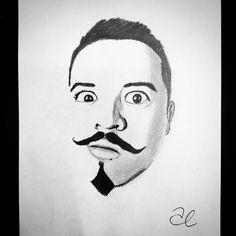 Autorretrato . Desde hace tiempo quería hacer un dibujo de mí mismo. Extraño tener el bigote así. . #SelfPortrait #PencilDrawing Instagram, Moustaches, Miss You, Dibujo