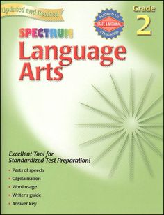 Spectrum Language Arts - Grade 2 Workbook