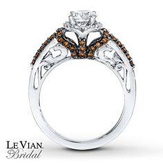 LeVian Chocolate Diamonds 1 ct tw Engagement Ring  14K Gold