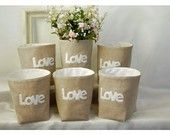 box linen 3 LOVE Letters etsy Weddings decor Set 3 (50% Deposit Available) Oatmeal Linen Bin Organizer Storage Basket Gift Wrap Part of a TAGT team Etsy treasury, click to see more.