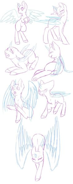 Pony Study 13 by Mondlichtkatze on DeviantArt Drawing Techniques, Drawing Tips, Drawing Reference, Drawing Sketches, My Little Pony Drawing, Poses References, Mlp Pony, Drawing Base, Art Base