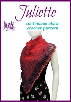 The Juliette Shawl is perfect for spring, as its open stitch pattern keeps it from being too warm. The circular design keeps it from falling off. Poncho Au Crochet, Crochet Shawls And Wraps, Crochet Scarves, Crochet Clothes, Shawl Patterns, Easy Crochet Patterns, Crochet Designs, Crochet Ideas, Crochet Gifts
