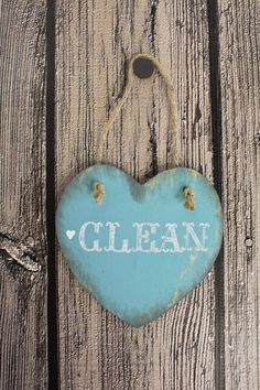 Clean or Dirty Dishwasher Magnet - Rustic Home Decor by ThePaperWalrus on Etsy