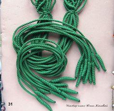 Плетём ажурный пояс с листочками в технике макраме - Ярмарка Мастеров - ручная работа, handmade