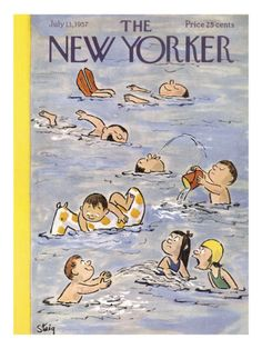William Steig July 1957 New Yorker magazine cover