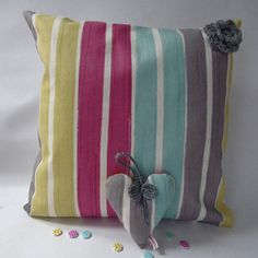 Check out this item in my Etsy shop https://www.etsy.com/uk/listing/521640012/16-square-clarke-clarke-stripy-handmade