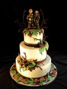 Hunting Wedding Cake