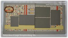 Scrapbooking Kits: NEW 6 Page Scrapbook Kit featuring the BABYCAKES Papers and Accents- $20  #ctmh #scrapbookkits