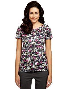Per Una Floral Longline Top - Marks & Spencer Floral Tops, Floral Prints, Top Marks, Long A Line, Blouse Designs, What To Wear, Feminine, Blouses, Unique