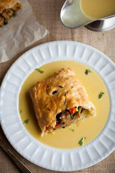 Vegetarian Wellington With Seitan, Mushroom, And Kale - Vegetarian Thanksgiving Dishes That Even Meat-Eaters Will Love - Photos
