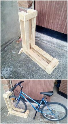 You can readily make the use of the wood pallet in the effective use of it in the bicycle set formation as well. This will end up to look so impressive and you would probably be finding it impressive in designs and favorable in attractiveness too. See the image we shared!