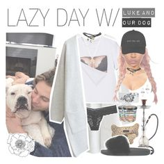 """""""♛ lazy day with luke and our dog"""" by fangirlsets ❤ liked on Polyvore featuring Uncommon, American Eagle Outfitters, Lime Crime, Ballard Designs, Chloé, Wet Seal, Givenchy and Amber Sceats"""