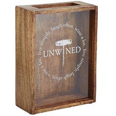 For the oenophile in your life, our cork shadow box fulfills that need to keep every cork and displays them in style. The wooden box features a fun saying with sophisticated design elements to make the most of any wine lovers' precious cork collection.