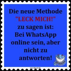 Whatsapp Spruch Von Ispruch De Neue Leck Mich Methode