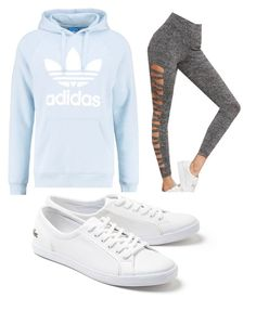 """Casual"" by chelsnic on Polyvore featuring adidas Originals and Lacoste"