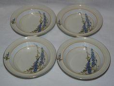 Sold! 4 Tams Ware Delphinium Cereal Bowls