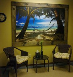 """Here is a picture of the mural! It completely reinvented the entire office! We are so impressed with the vibrant colors and beautiful quality of this mural. When my husband first saw it he said it felt like he could just walk into it! The application was easy - which was a relief! ...So... we will be sending business your way! Thanks for the great customer service and an absolutely fantastic product!"" -Makay T."