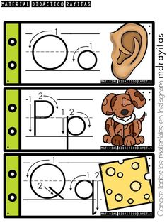 Alphabet Writing Practice, Teaching The Alphabet, Alphabet Activities, Preschool Kindergarten, Preschool Worksheets, Bilingual Classroom, Spanish Alphabet, Alphabet Tracing, Baby Education