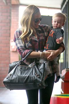 Hillary Duff! Happy First Birthday Luca! He Loves Babies First Class! (Photos)