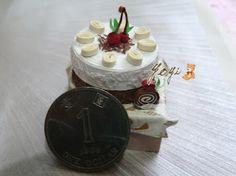 桃忌廉朱古力蛋糕 Cherry Cream Chocolate Cake チェリークリームチョコレートケーキ...捲紙 Quilling ペーパークイリング