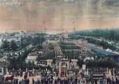 """Vergnügungsetablissement """"Neue Welt"""" in der Hasenheide, Berlin 1881"""