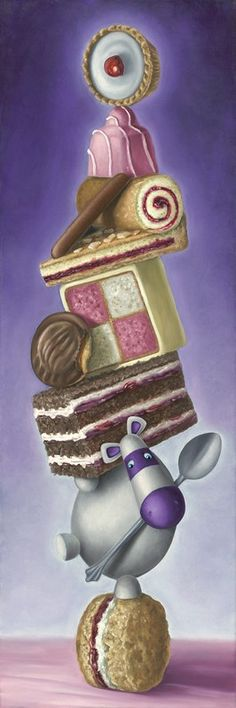 Peter Smith artist - Rolling Scones - Artmarket Contemporary Art Gallery