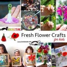 Fresh Flower Crafts for Kids