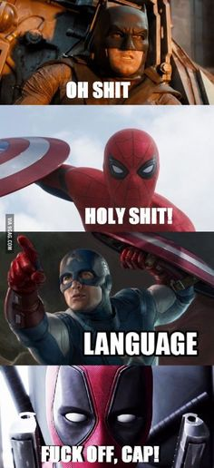 Top 30 Funny Deadpool Memes is part of Funny marvel memes - Top 30 Funny Deadpool Memes Deadpool Deadpool Funny Marvel Jokes, Funny Marvel Memes, Dc Memes, Avengers Memes, Marvel Dc Comics, Funny Comics, Marvel Avengers, Funny Memes, Funny Videos