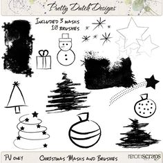 Christmas Masks and Brushes :: Brushes and Stamps :: Elements :: Memory Scraps