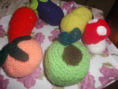 frutas tejidas en crochet