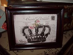 Shabby chic  Paris picture frame 5 X 7 by JulieannasCreations, $12.00