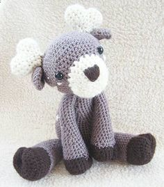 Cute Baby Deer Crochet Toy Plush Doll with Star Accents  by iamRGB
